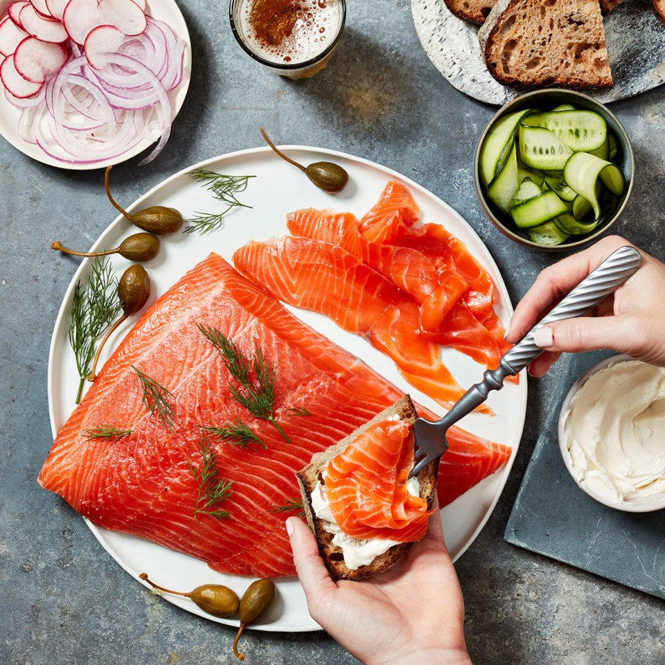 Cardamom-Cured Salmon Gravlax