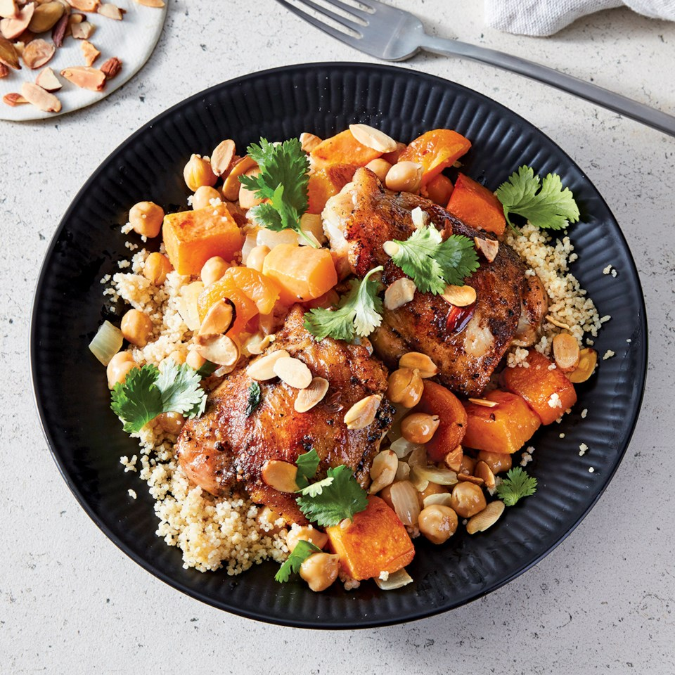 Slow-Cooker Moroccan Chicken, Vegetables & Couscous