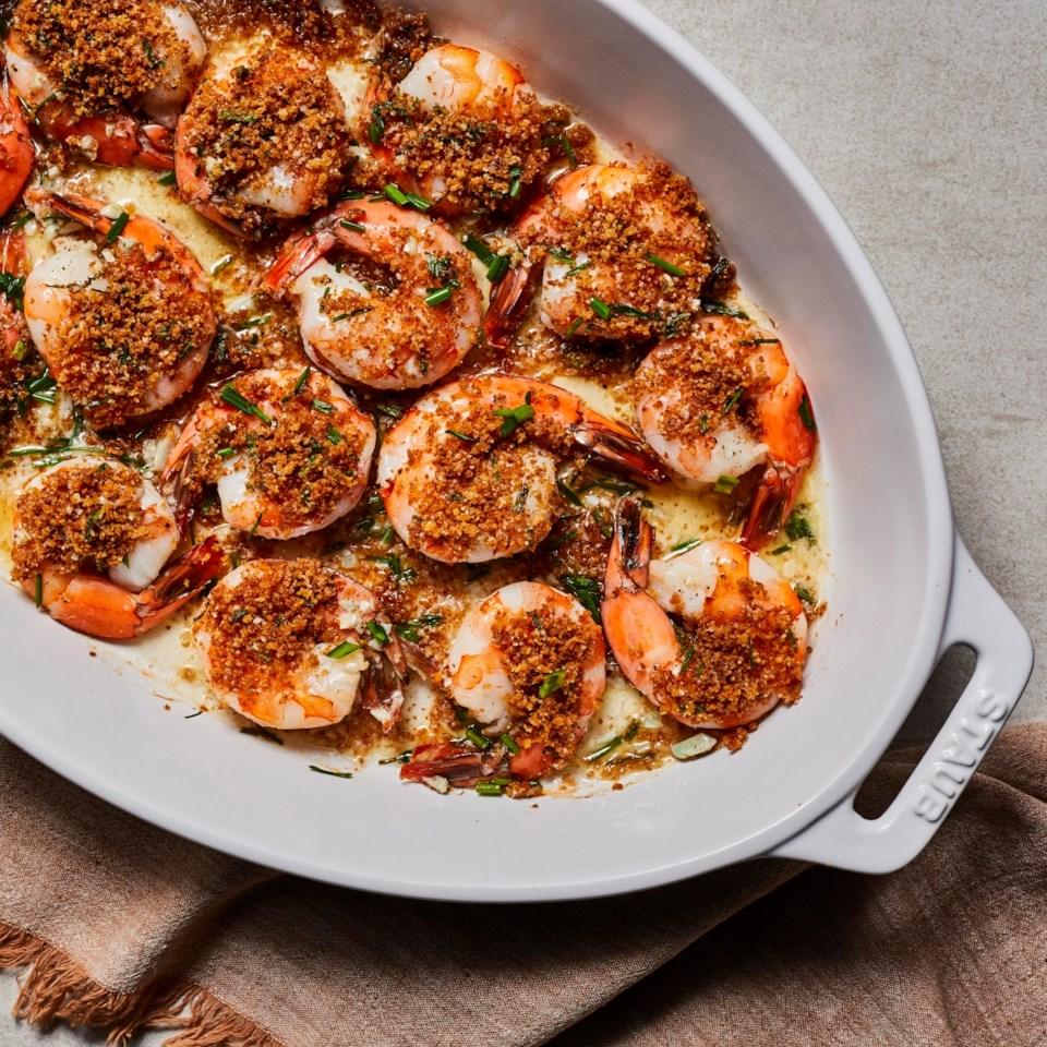 Crispy Panko-Parmesan Baked Shrimp Recipe