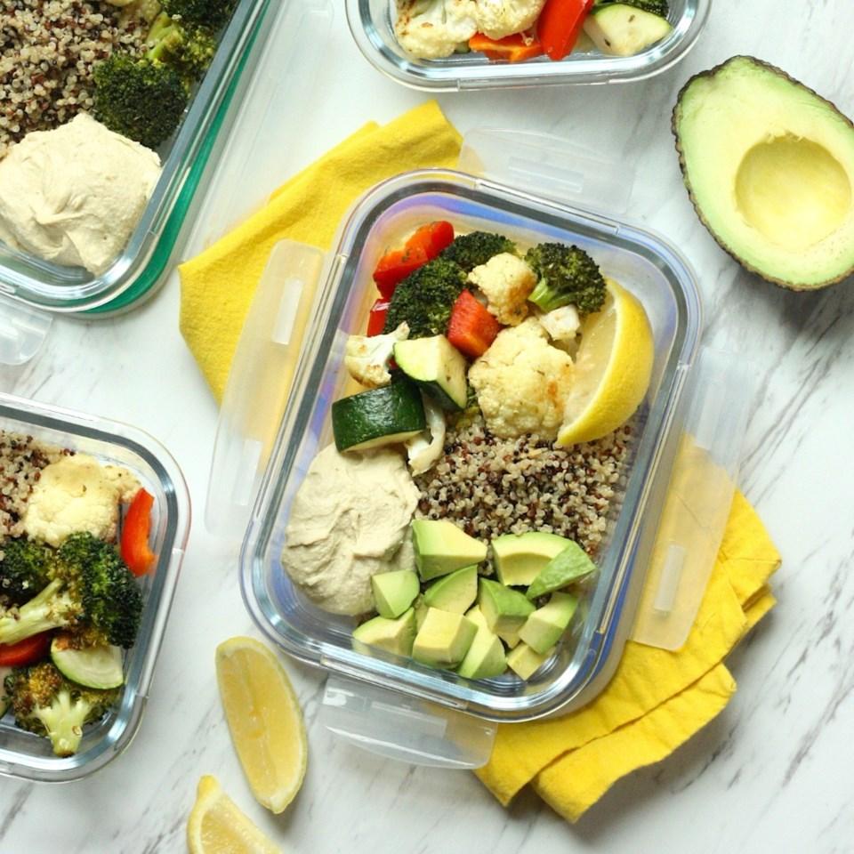 Lemon-Roasted Vegetable Hummus Bowls Recipe