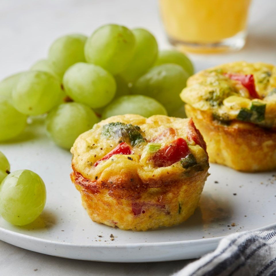 Parmesan & Vegetable Muffin-Tin Omelets Recipe