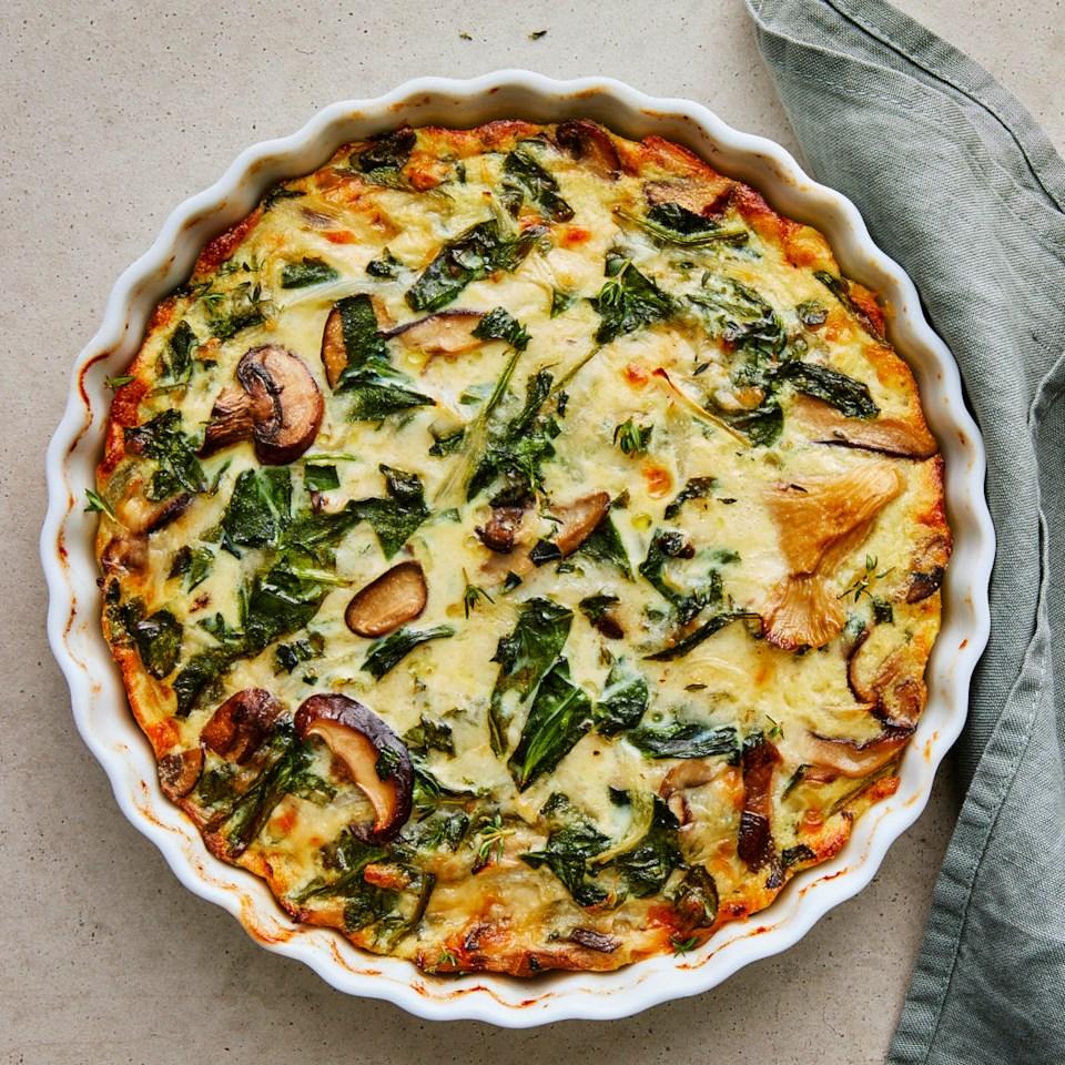 Spinach & Mushroom Quiche Recipe