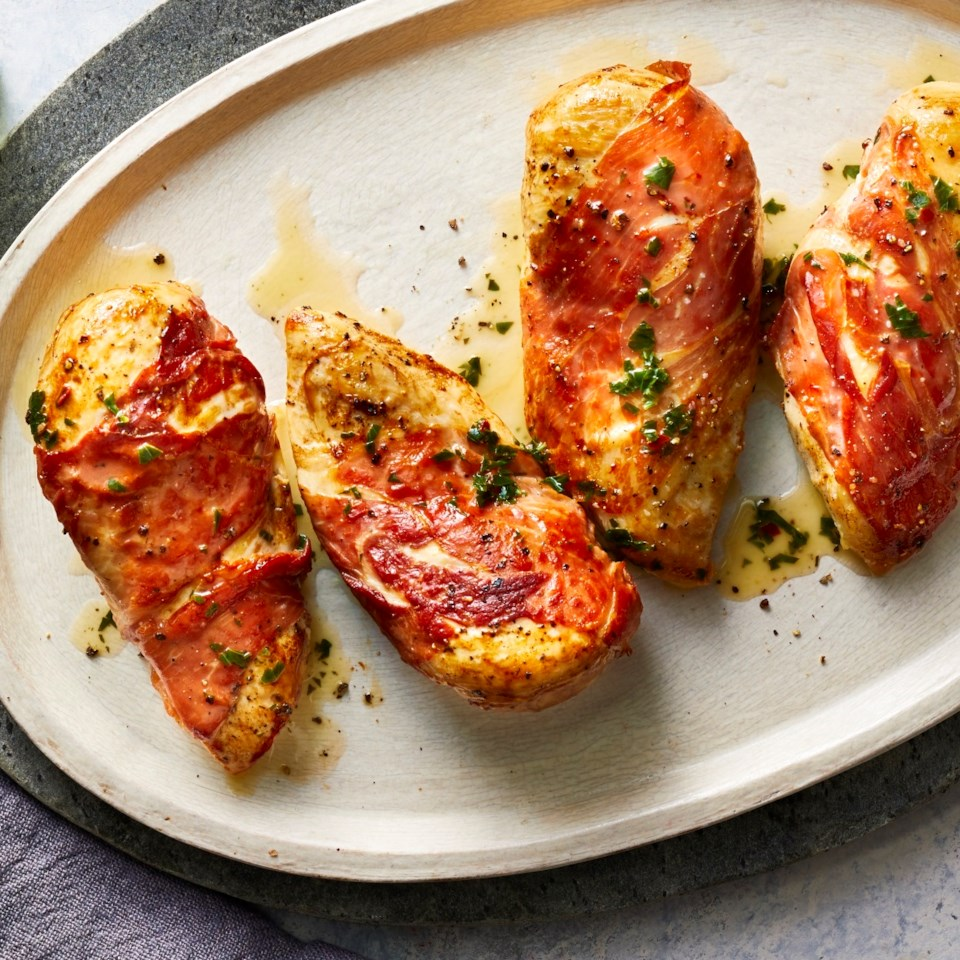 Lemony Prosciutto-Wrapped Chicken Breasts Recipe
