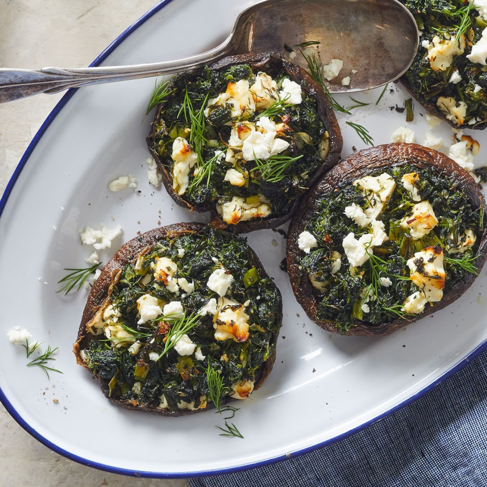 Spanakopita-Stuffed Portobello Mushrooms Recipe
