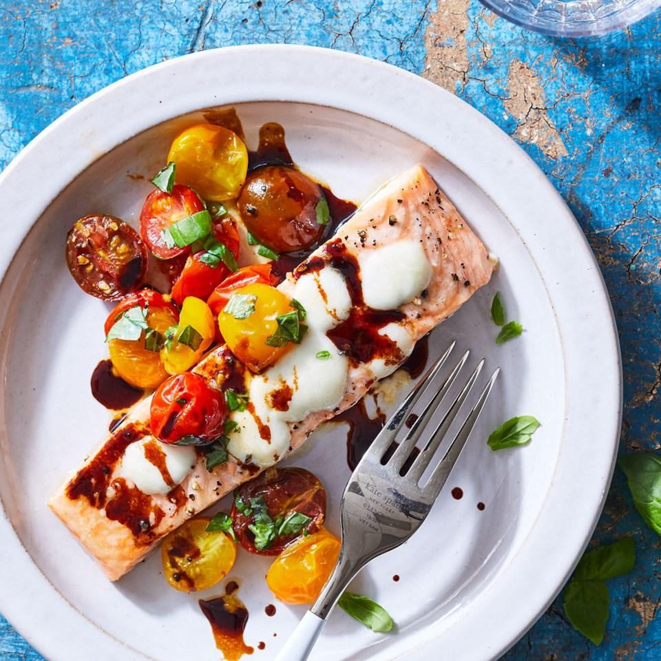 Roasted Salmon Caprese Recipe