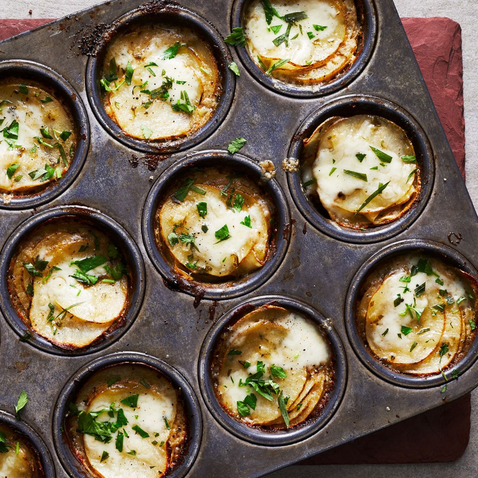 Muffin-Tin Potatoes Gratin Recipe