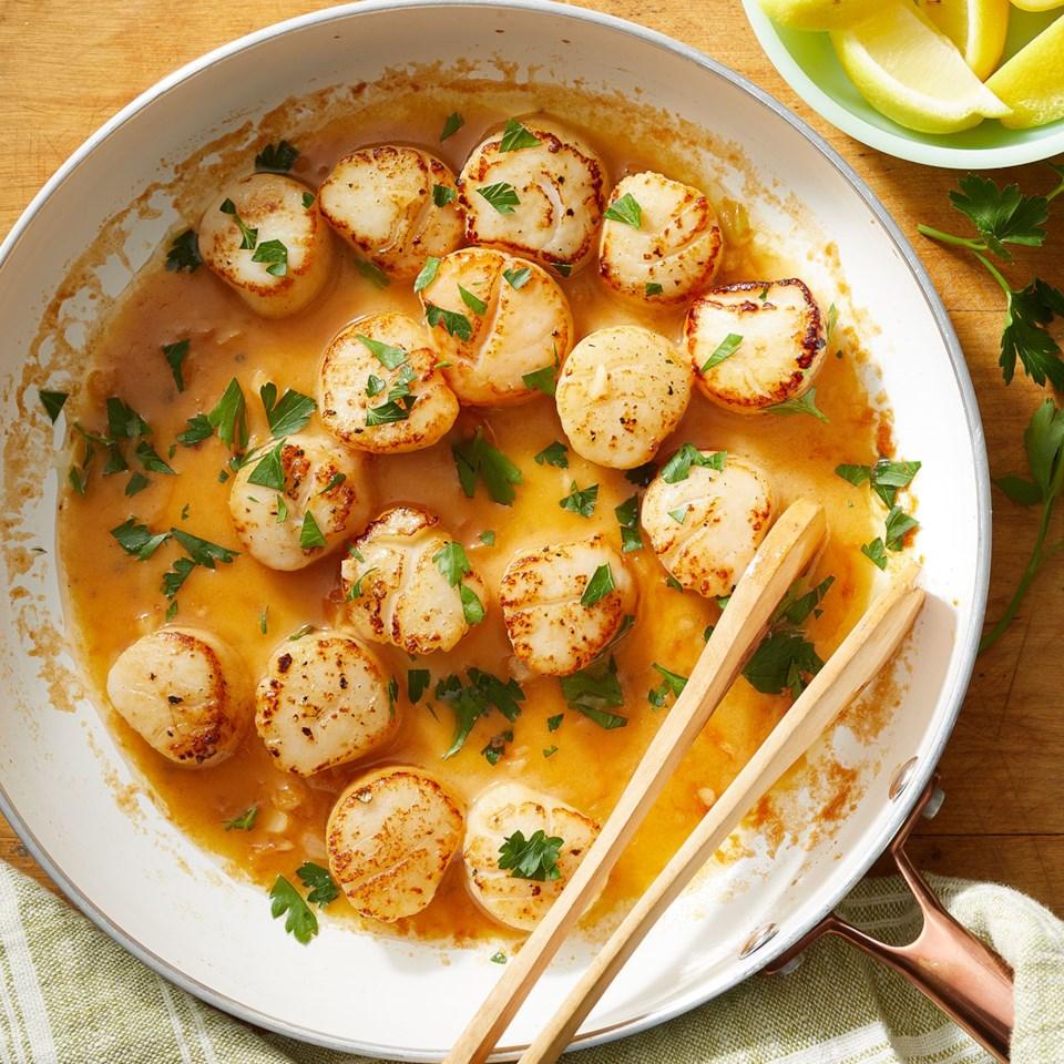 Lemon Garlic Scallops Recipe