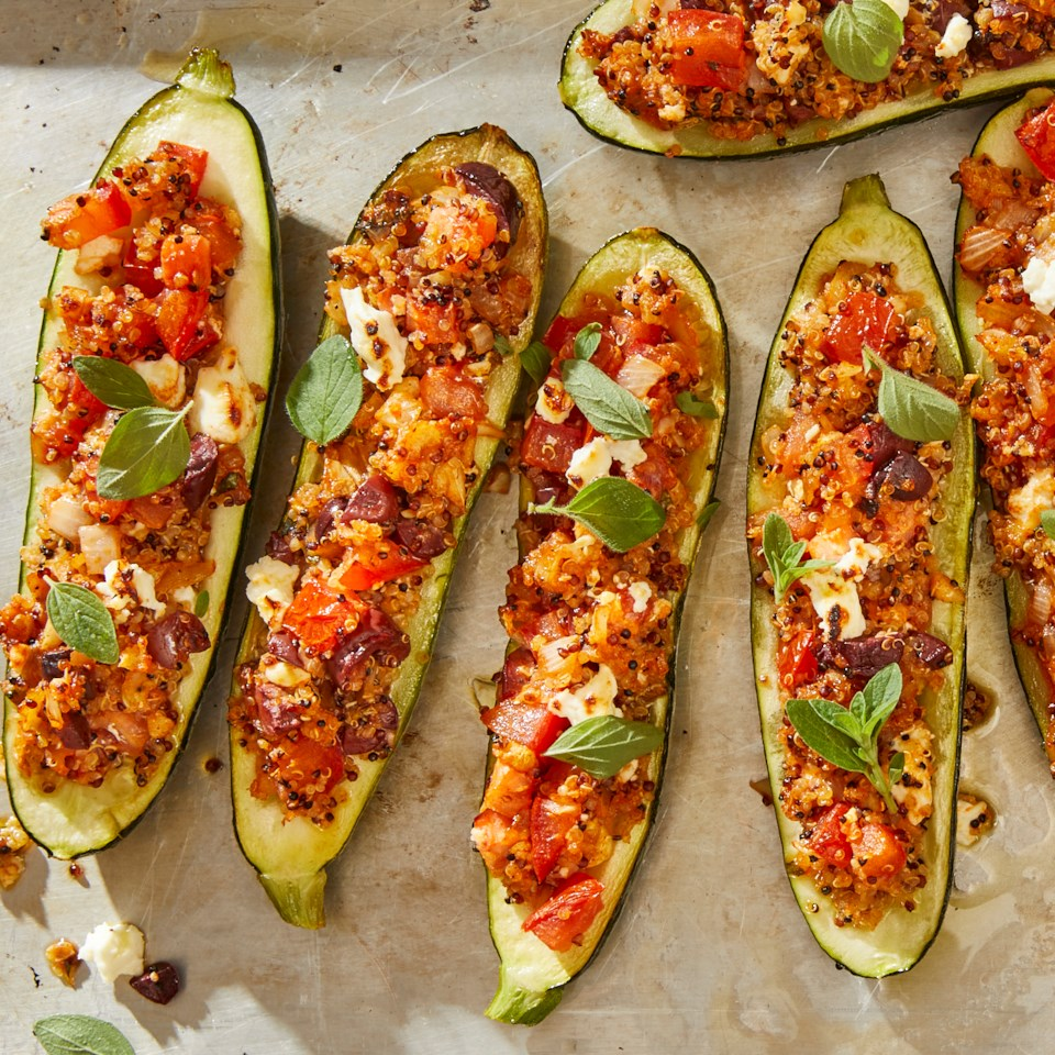 Greek Vegetarian Stuffed Zucchini Recipe
