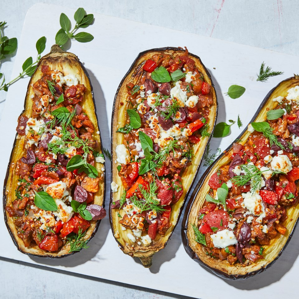 Greek Stuffed Eggplant Recipe