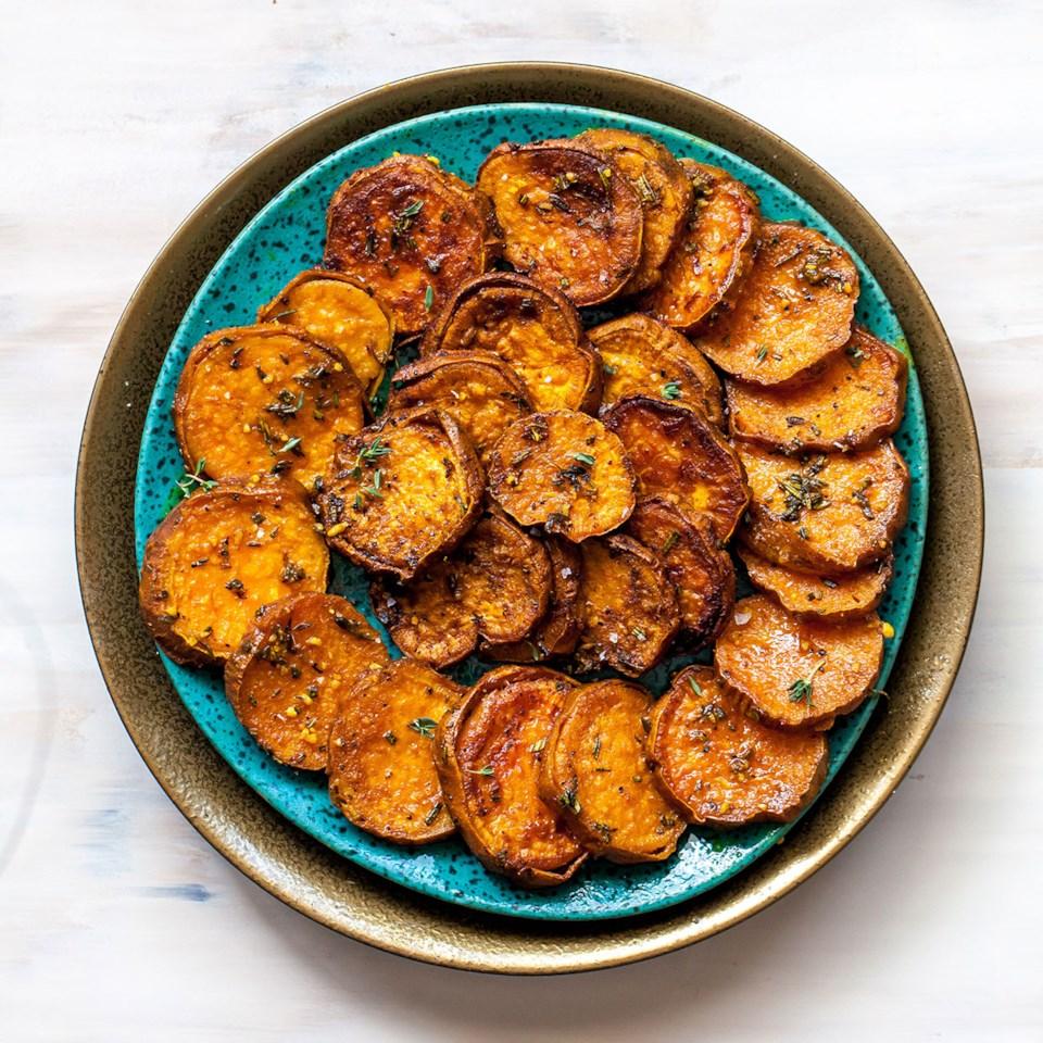 Melting Sweet Potatoes with Herbs & Garlic Recipe