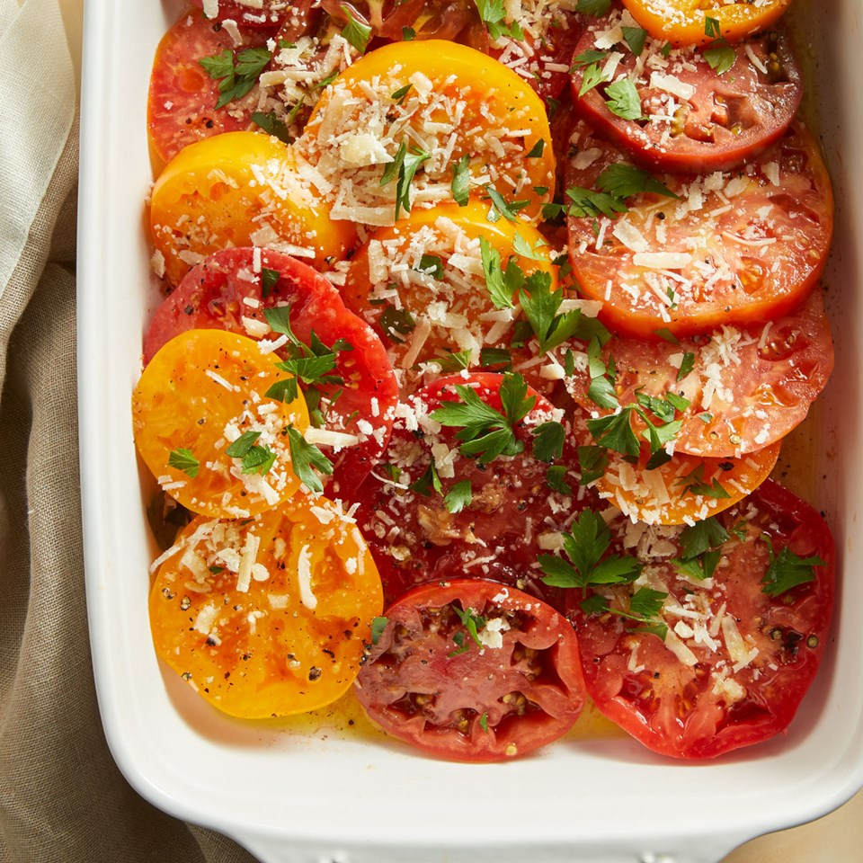 Garlicky Marinated Tomatoes Recipe