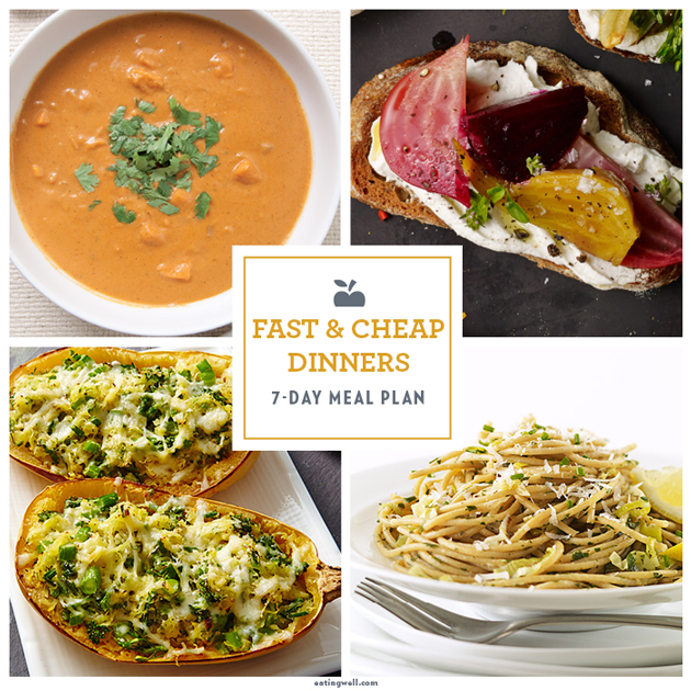 7-Day Meal Plan: Fast & Cheap Winter Dinners