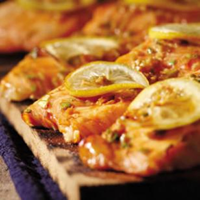 Plank-Grilled Sweet Soy Salmon
