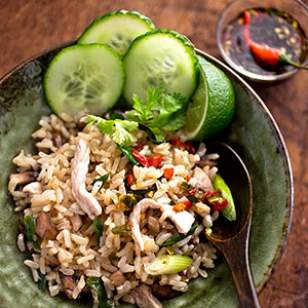 Thai Fried Rice recipe that's better than takeout, and cheaper too!