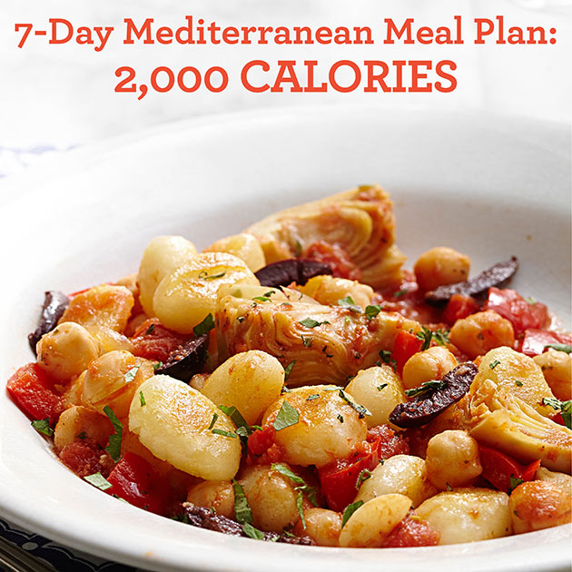 7 day mediterranean meal plan 2 000 calories eatingwell