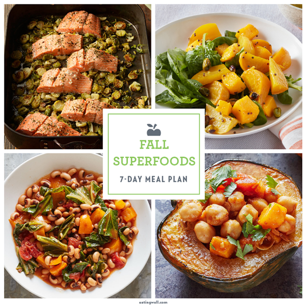 7-Day Meal Plan: The Superfoods of Fall