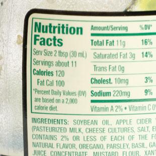 Oils in Packaged Foods