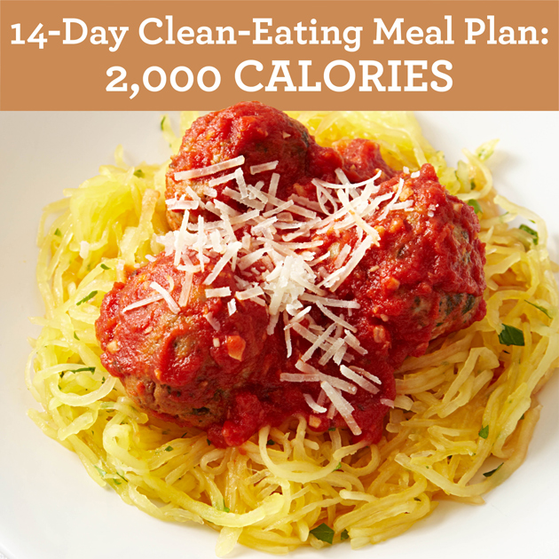 14 Day Clean Eating Meal Plan 2000 Calories