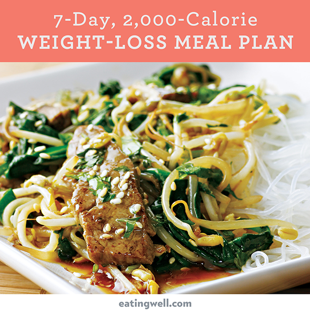 7 Day Diet Meal Plan To Lose Weight 2000 Calories Eatingwell