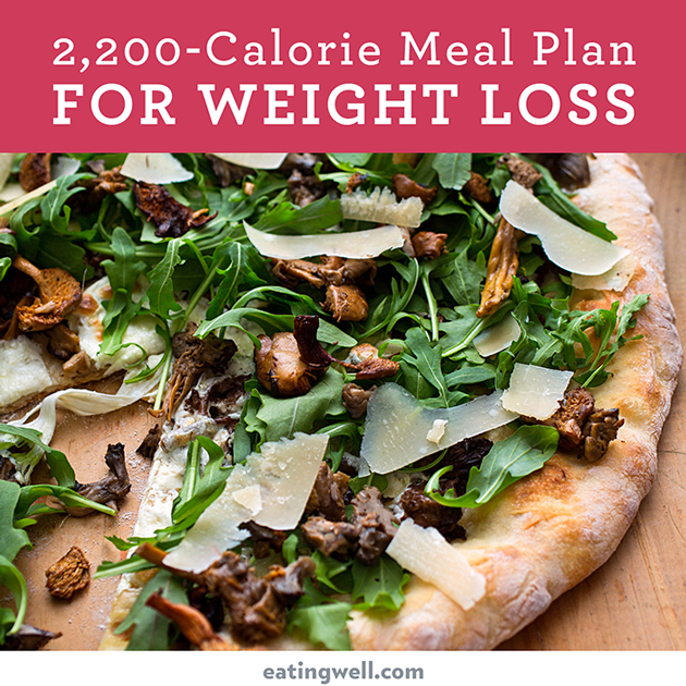 7 Day Diet Meal Plan To Lose Weight 2200 Calories Eatingwell
