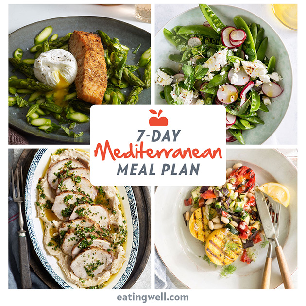 7 Day Mediterranean Diet Meal Plan Eatingwell