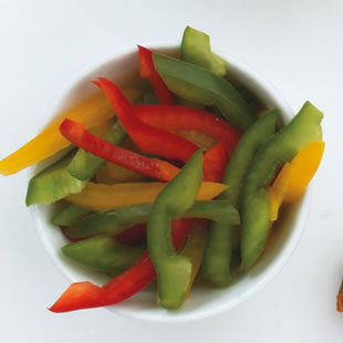 One serving of bell peppers
