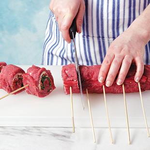 How to Assemble Flank Steak Pinwheels