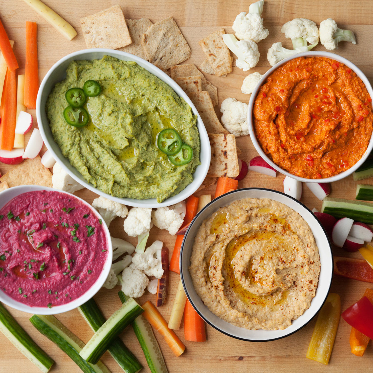 Eat the Rainbow with This Healthy Hummus Recipe Made 4 Ways!