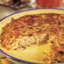 Rosti Potatoes with Ham & Cheese