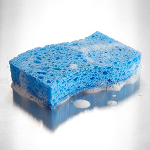 Not Changing or Sanitizing Your Kitchen Sponge Frequently Enough