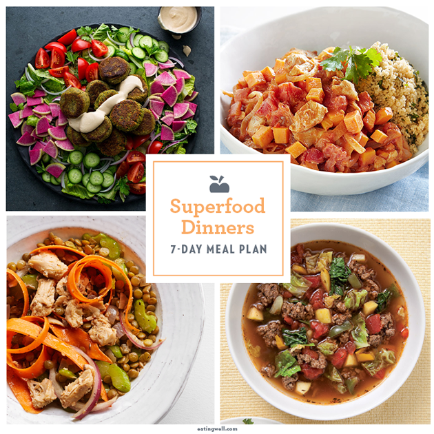 7 Day Superfood Meal Plan Eatingwell
