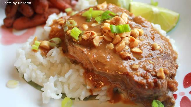 Slow CookerThai Peanut Pork