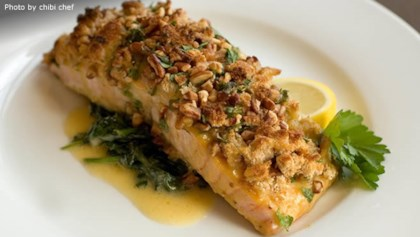 Seafood main dish recipes allrecipes alaska salmon bake with pecan crunch forumfinder Gallery