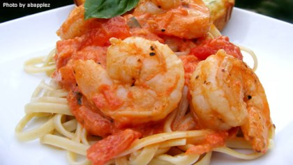Quick and easy seafood dinner recipes allrecipes tips tricks linguine pasta with shrimp and tomatoes forumfinder Image collections