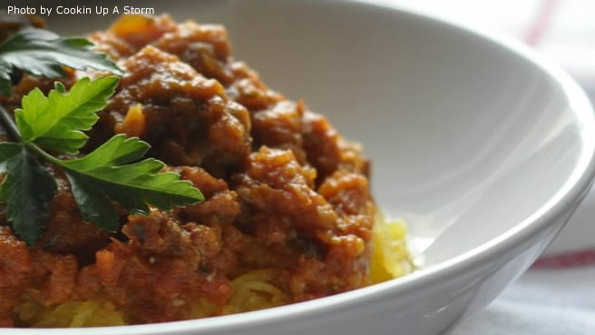 Allrecipes food friends and recipe inspiration spaghetti squash with paleo meat sauce forumfinder Image collections