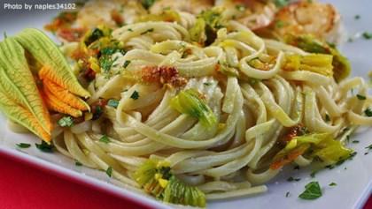 Pasta Ai Fiori Di Zucca Zucchini