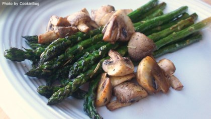 Heart healthy recipes allrecipes tips tricks roasted asparagus and mushrooms forumfinder Choice Image