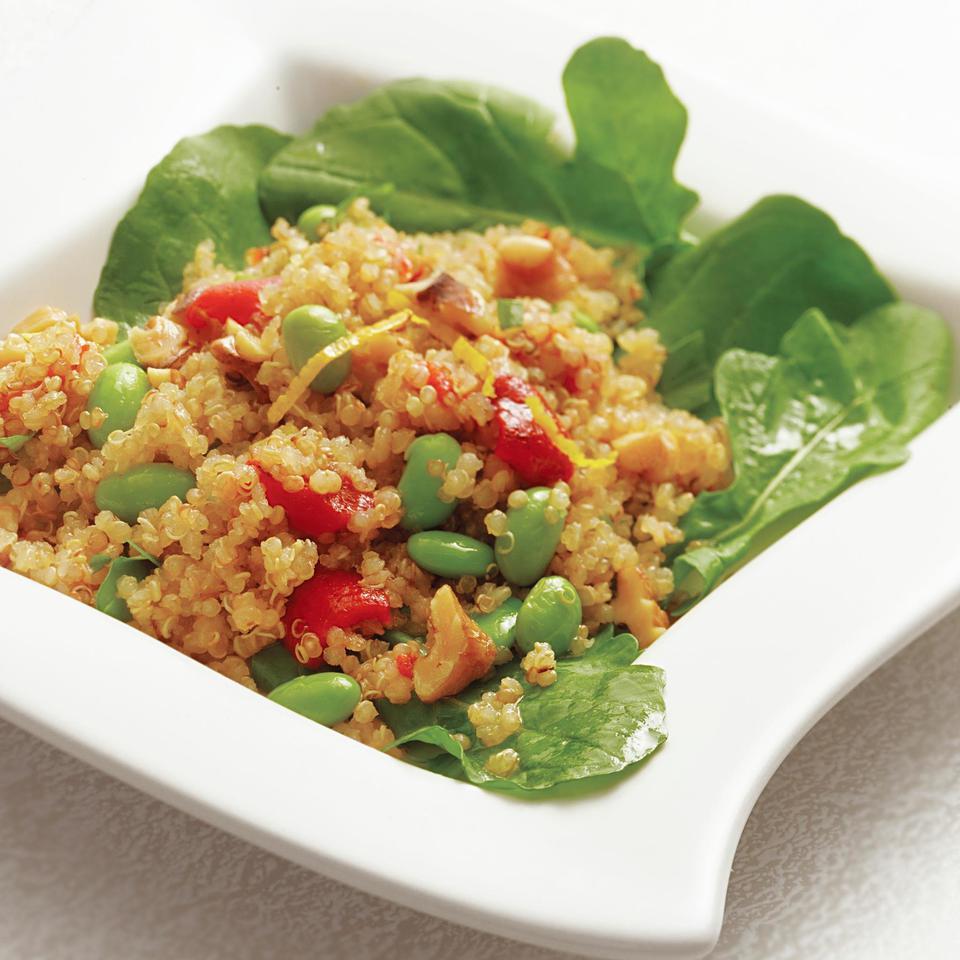 Warm Quinoa Salad with Edamame