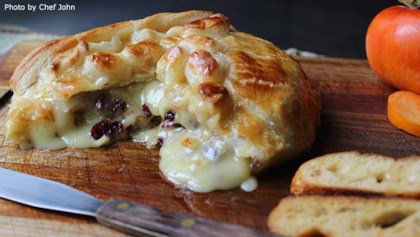 baked brie with cranberries walnuts - Simple Christmas Appetizers