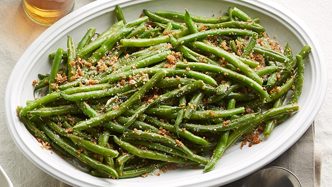 Green Beans with Parmesan Breadcrumbs