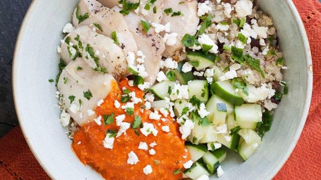 Mediterranean Chickpea Quinoa Bowl