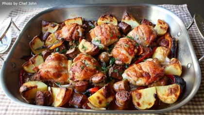 Chicken thigh recipes allrecipes tips tricks chicken sausage peppers and potatoes forumfinder Gallery