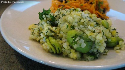 Persian recipes allrecipes tips tricks persian sabzi polo herb rice with fava beans forumfinder Image collections