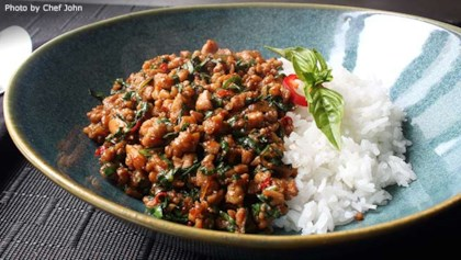 Thai recipes allrecipes spicy basil chicken pad krapow gai forumfinder Image collections