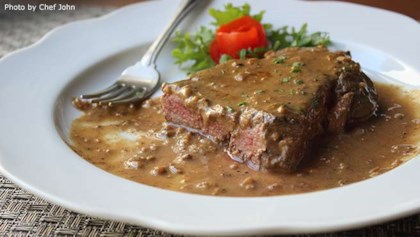 Food wishes recipes allrecipes tips tricks chef johns steak diane forumfinder Image collections