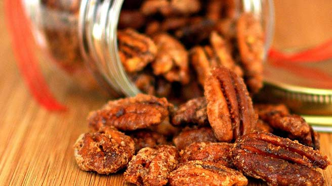 Glazed Spicy Cinnamon Pecans