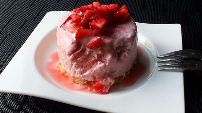 Chef John's Strawberry Semifreddo