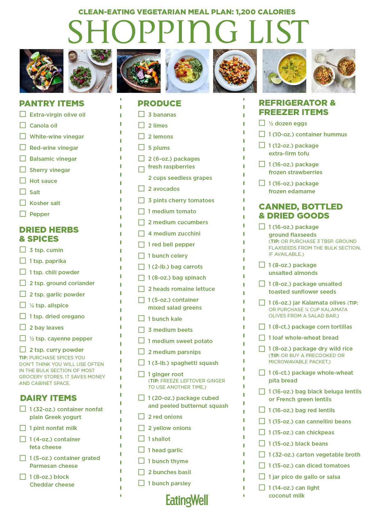 the vegan diet meal plan week