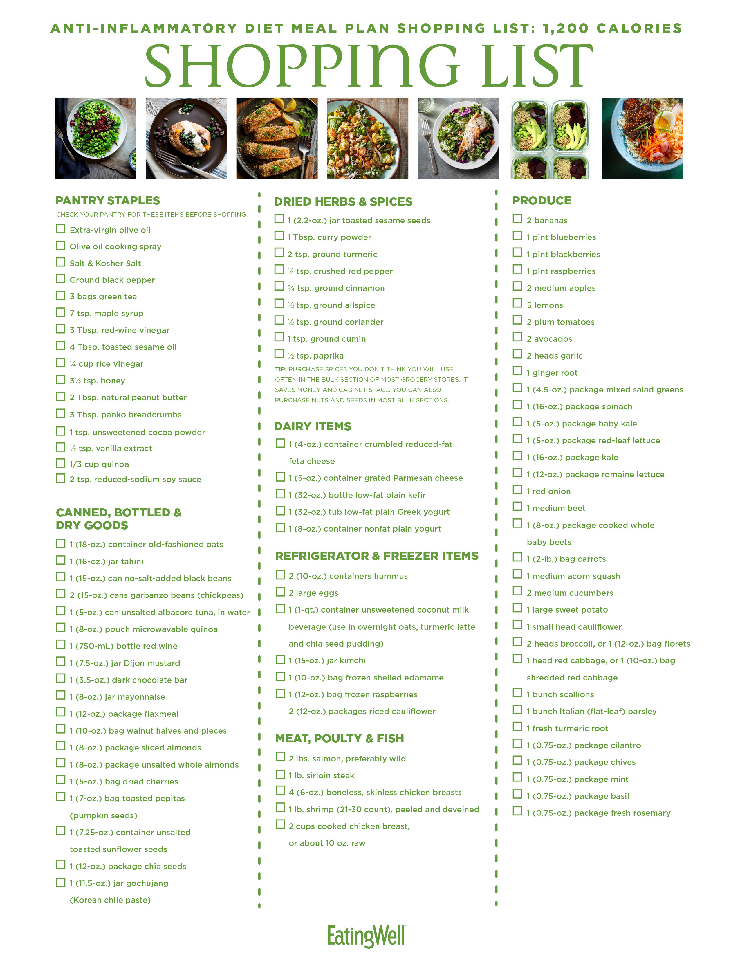 anti inflammatory diet meal prep
