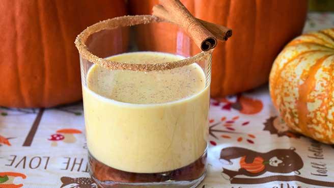 Bourbon-Pumpkin Milk Punch